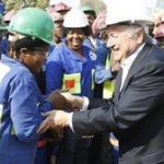 Blatter bonds with South Africa