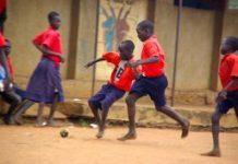 Africa's first foot-powered football field