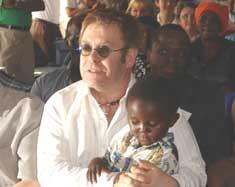 Elton John opens kids' centre