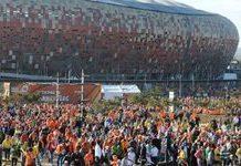 Dutch fans paint Centurion 'Oranje'