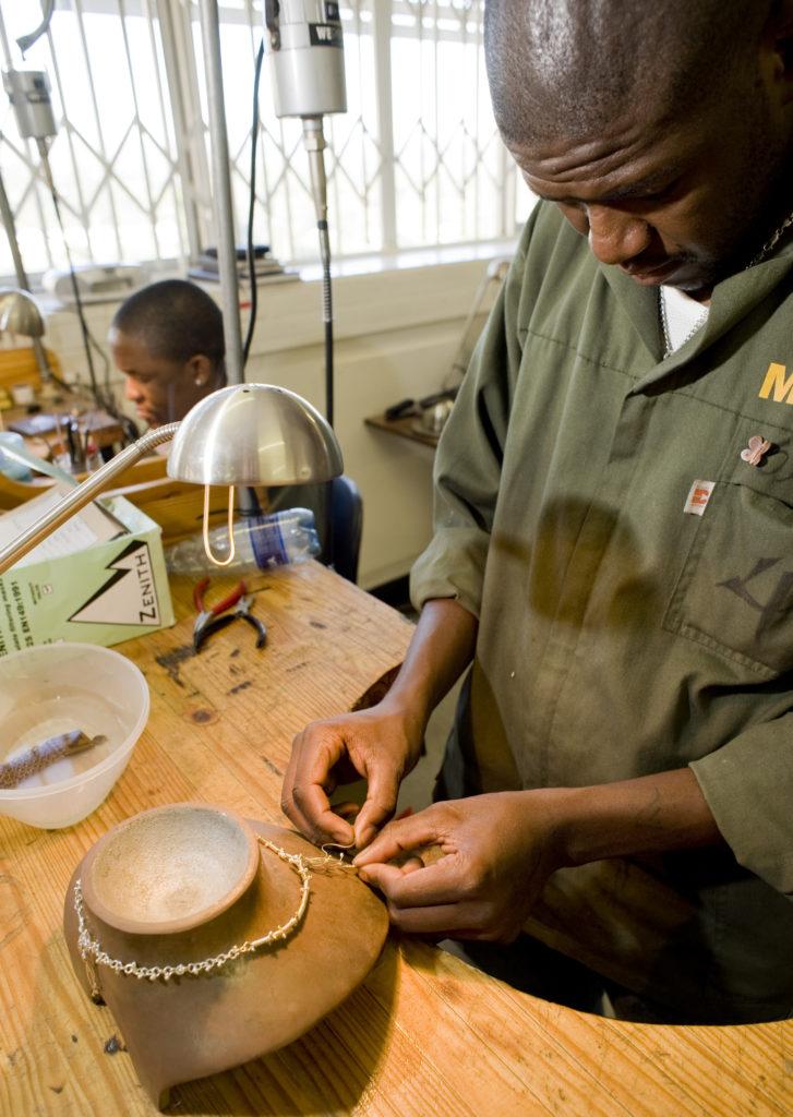 Kgabane jewellery training programme. Mintek, Johannesburg