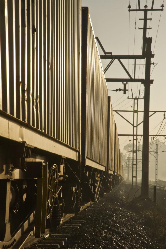 Railway line. Alrode, Johannesburg.