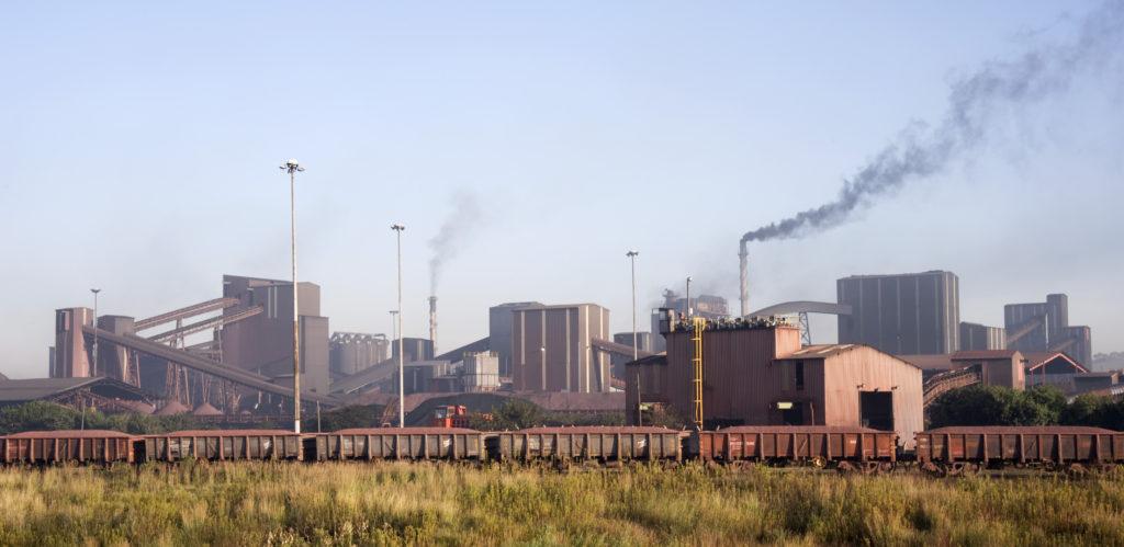 Johannesburg, Gauteng province: Scrap metal works in Alrode