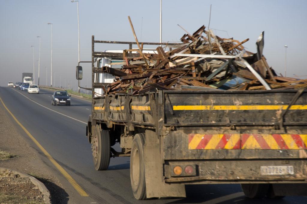 Johannesburg, Gauteng province: Scrap metal in transit in Alrode