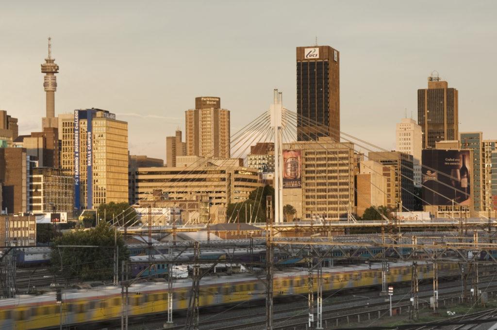Johannesburg, Gauteng province: The Braamfontein skyline