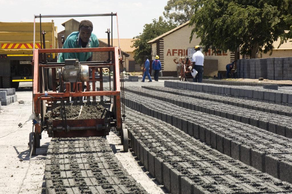 Johannesburg, Gauteng province: Brick maker