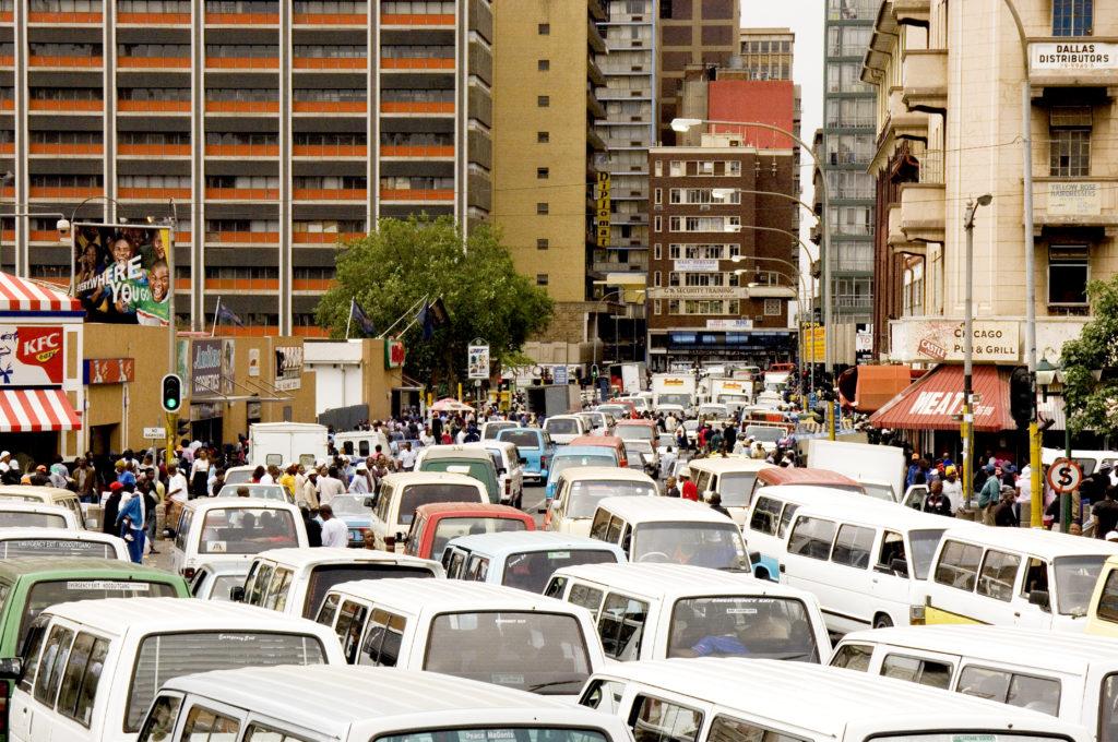 Taxi jam - Klein Street, Johannesburg