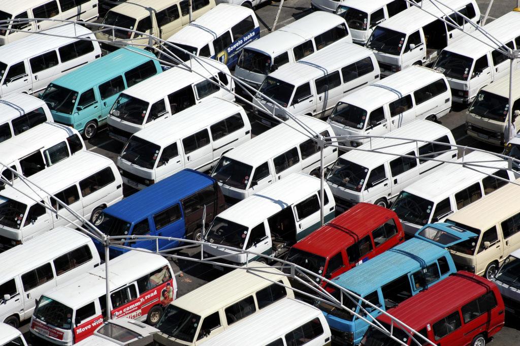 Joubert Park minibus taxi rank, Johannesburg