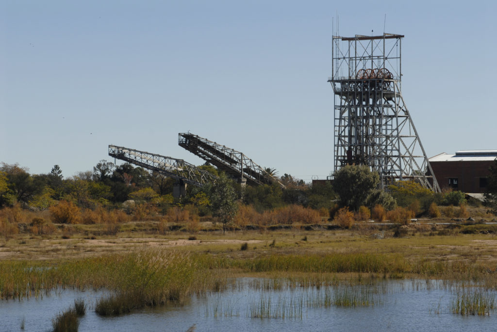 Welkom, Free State province: Harmony Gold Mine headgear