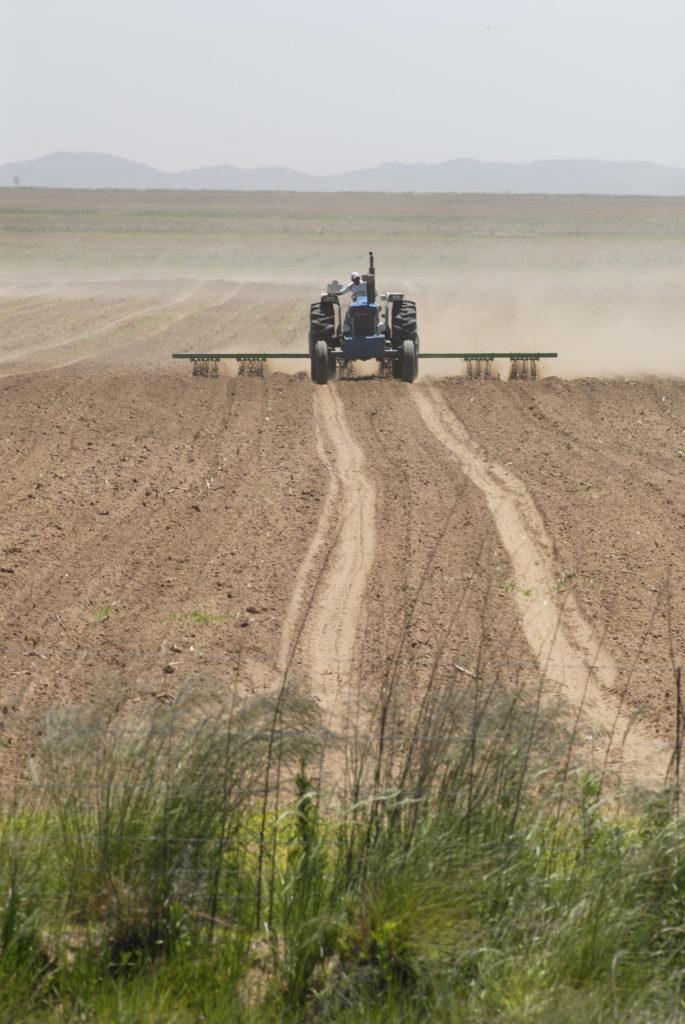 Gauteng province: Ploughing a field