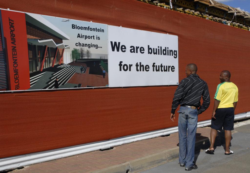 South Africa, Free State: Bloemfontein International Airport.