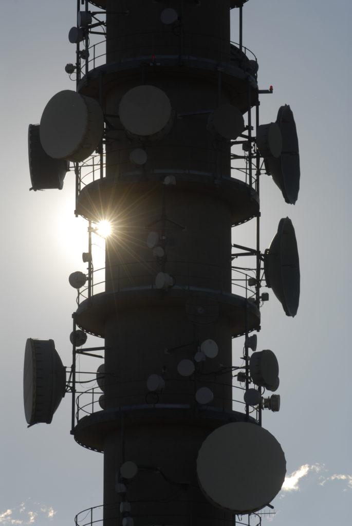 Bloemfontein, Free State province: Telkom's microwave tower on Naval Hill