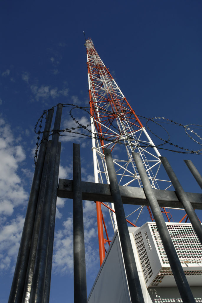 Northern Cape province: A Vodacom cellular phone mast on a farm
