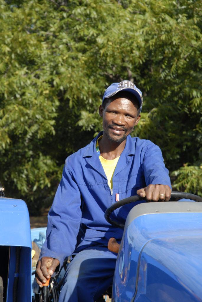 Willem Nkosi, a worker on a pecan-nut farm in the Vaalharts Irrigation Scheme region
