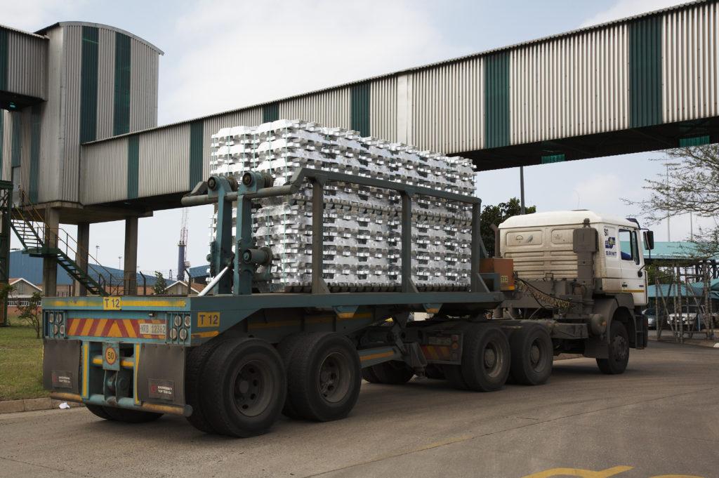 Steel export, Richards Bay Harbour, KwaZulu-Natal