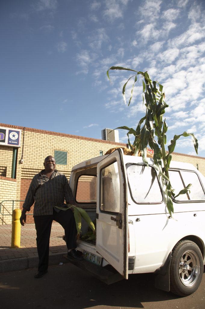 Mealie (corn) cob trader