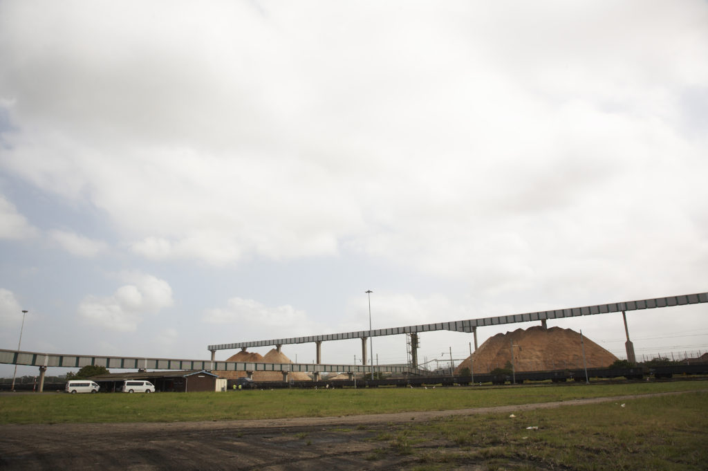 Wood chip export, Richards Bay Harbour, KwaZulu-Natal