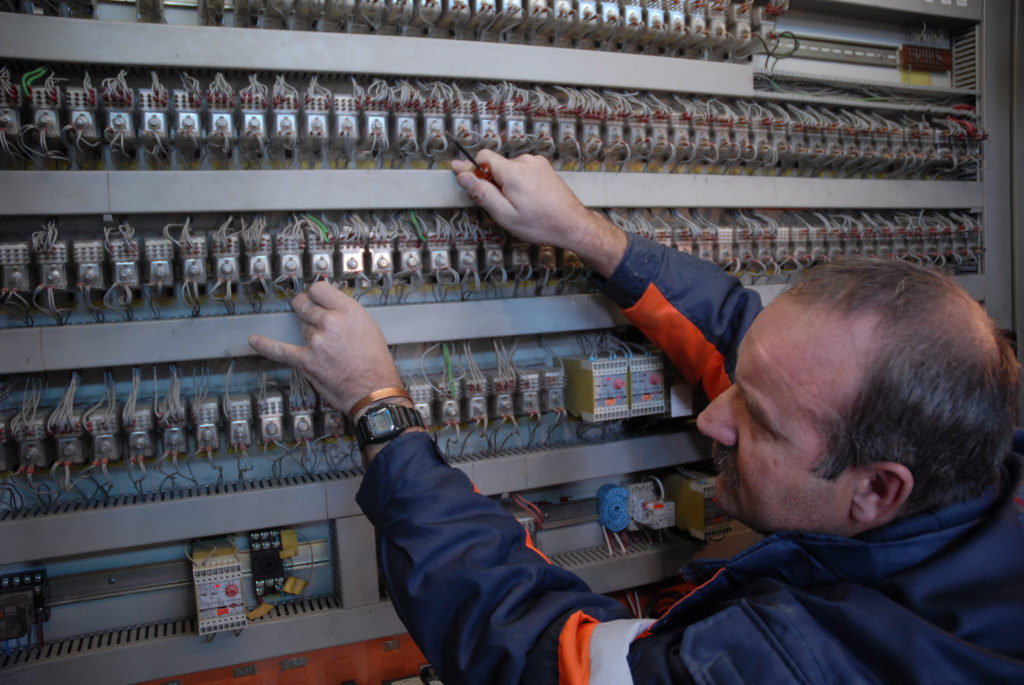 Welkom, Free State province: Electrician Gideon Ferreira, Harmony Gold Mine