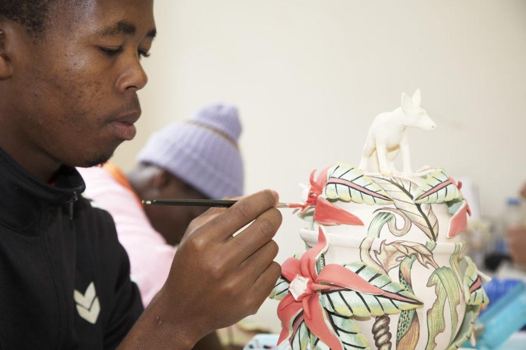 KwaZulu-Natal Midlands: Siyabonga Mabaso, an artist at Ardmore Ceramics