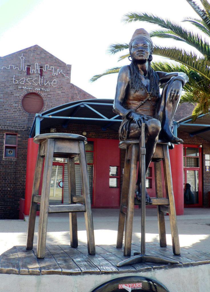 Johannesburg, Gauteng: Singer Brenda Fassie bronze statue
