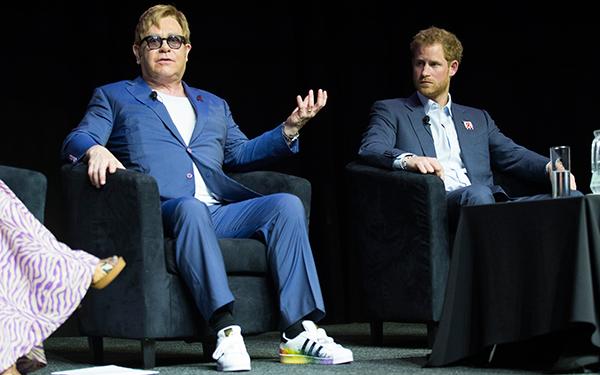 Elton John and Prince Harry