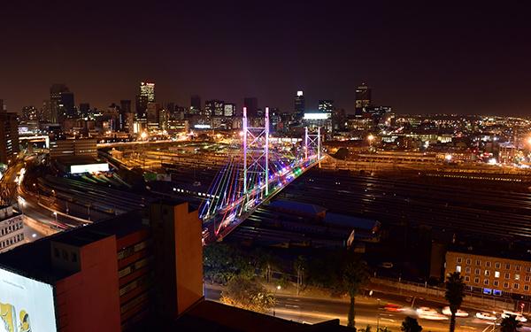 Johannesburg at night skyline