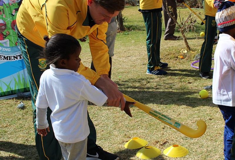 Mandela Day hockey children's home