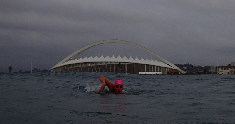 South African open ocean endurance swimmer Sarah Ferguson is swimming the mighty Ka'iwi channel in Hawaii for a worthy cause: ocean conservation.