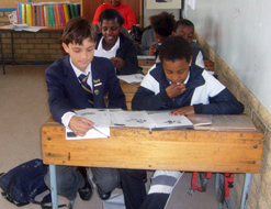 Boys taking part in the exchange programme get a chance to attend a school that is very different to their own
