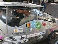 Xavier van Stappen inside his car