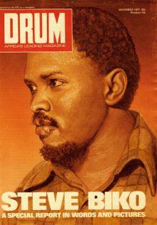 Steve Biko on the cover of Drum magazine.